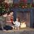Noel · aile · portre · ev · tatil · oturma · odası · dekore · edilmiş - stok fotoğraf © dashapetrenko