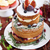 desszert · asztal · esküvői · torta · minitorták · gyümölcsök · virágok - stock fotó © dashapetrenko