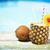 exotic pineapple cocktail near pool pina colada stock photo © dashapetrenko