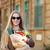 nő · tart · piros · paradicsom · áruház · vásárlás - stock fotó © dashapetrenko