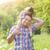 девочку · Daisy · области · зеленый · Ромашки - Сток-фото © dashapetrenko