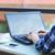 молодые · женщину · используя · ноутбук · компьютер · сидят - Сток-фото © dashapetrenko