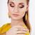 美少女 · を構成する · 着用 · 長い · 黄色 · ドレス - ストックフォト © dashapetrenko