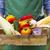 фермер · салата · органический · овощей · Фермеры · рук - Сток-фото © dashapetrenko