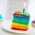 fiesta · velas · rebanada · pastel · de · cumpleanos · ninos · cumpleanos - foto stock © dashapetrenko