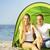 famiglia · felice · camping · spiaggia · felice · giovani · famiglia - foto d'archivio © dashapetrenko