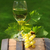 one glass of white wine on the wine barrel stock photo © dashapetrenko