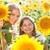 piękna · dziecko · słonecznika · wiosną · dziedzinie · kwiat - zdjęcia stock © dashapetrenko