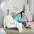 довольно · брюнетка · диване · домой · женщину - Сток-фото © dashapetrenko