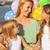 meisje · spelen · ballonnen · strand · gelukkig · meisje - stockfoto © dashapetrenko