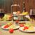 tomate · ensalada · albahaca · queso · aceite · de · oliva · ajo - foto stock © dashapetrenko