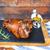 carne · de · porco · em · servido · alho · molho - foto stock © dashapetrenko