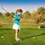 menina · jogador · de · golfe · sorrir · golfe · beleza · campo - foto stock © dashapetrenko