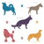 set of different dog breeds silhouettes stock photo © dashikka