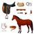 ingesteld · uitrusting · paard · opleiding · leder - stockfoto © Dashikka