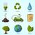 eco icons stock photo © dashikka