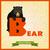 animaux · alphabet · ours · école · heureux · art - photo stock © dashikka