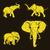 Слоны · набор · Гранж · дизайна · искусства · Африка - Сток-фото © Dashikka
