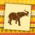 elefante · vermelho · ilustração · fundo · arte - foto stock © dashikka