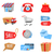 vector set of flat and colorful shopping icons stock photo © dashikka