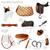 set of equestrian equipment vector stock photo © dashikka