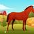 Concept of horse on farm background stock photo © Dashikka