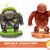 set of cartoon rock monsters editable elemental evil and neutral or positive characters suitable f stock photo © dashikka