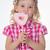 мало · девушки · ткань · носа · стороны - Сток-фото © dave_pot