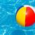 bola · de · praia · flutuante · piscina · colorido · piscina · água - foto stock © david010167