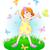 気のあるそぶりをした · 漫画 · 少女 · 赤 · 花 · 髪 - ストックフォト © dazdraperma