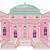 rosa · princesa · castelo · desenho · animado · branco · edifício - foto stock © dazdraperma
