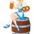 oktoberfest · nina · etiqueta · funny · cerveza - foto stock © dazdraperma