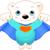 képregény · rajz · aranyos · jegesmedve · retro · képregény - stock fotó © dazdraperma