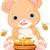 sevimli · ayı · yeme · bal · arısı · çocuklar · arı - stok fotoğraf © dazdraperma