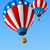 hot air balloons of 4 of july background stock photo © dazdraperma