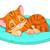 かわいい · 寝 · 猫 · 手描き - ストックフォト © dazdraperma