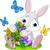 bunny with bouquet stock photo © dazdraperma