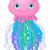 aranyos · meduza · vágási · körvonal · állat · rajz · tengeri - stock fotó © dazdraperma