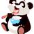 bonitinho · panda · leitura · livro · educação · arte - foto stock © dazdraperma