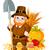 cute pilgrim with spade stock photo © dazdraperma