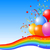 party balloons background stock photo © dazdraperma