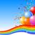 party balloons background stock photo © dazdraperma