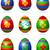 vecteur · œufs · de · Pâques · Pâques · oeuf · rouge - photo stock © dazdraperma