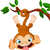 baba · majom · fa · aranyos · tart · banán - stock fotó © dazdraperma