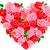 bağbozumu · kart · güller · biçim · kalp · çiçek - stok fotoğraf © dazdraperma