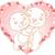 jegesmedve · Valentin · nap · nap · vektor · fehér · medve - stock fotó © dazdraperma