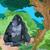 oturma · goril · örnek · sevimli · karikatür · resim - stok fotoğraf © dazdraperma