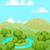 tájkép · dombok · folyó · vektor · terv · illusztráció - stock fotó © dazdraperma