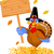 Thanksgiving turkey holding sign  foto stock © Dazdraperma