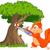 drôle · écureuil · branche · illustration · bois · nature - photo stock © dazdraperma